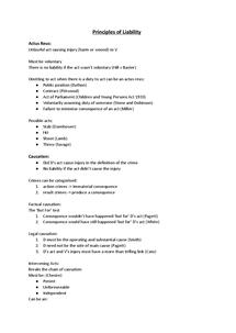 Preview of Criminal Liability; Unit 2 - Notes