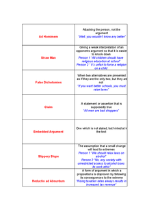 Preview of Critical Thinking Unit 1 Key Term Match Cards
