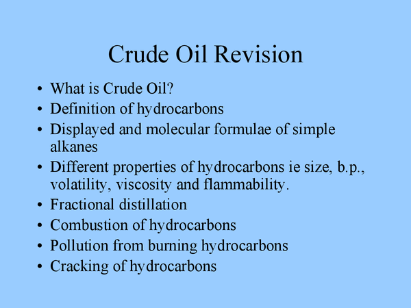 Preview of Crude Oil