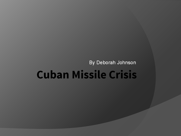 Preview of Cuban missile crisis