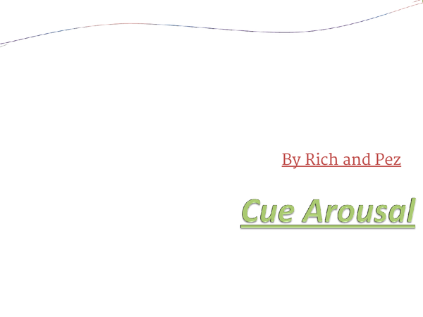 Preview of Cue Arousal