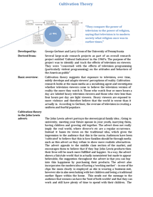 Preview of cultivation theory + application