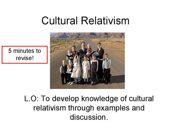 Preview of Cultural Relativism