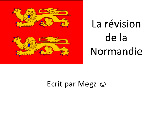 Preview of Cultural Topic Normandy Revision
