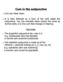 Preview of Cum in the Subjunctive