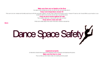 Preview of Dance Space Safety Poster