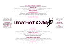 Preview of Dancer Health & Safety Poster