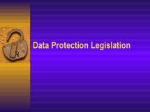 Preview of Data Protection