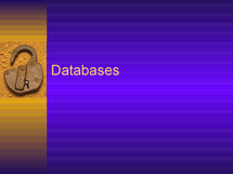 Preview of Databases
