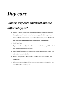 Preview of Day Care
