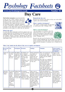 Preview of Day Care Factsheet