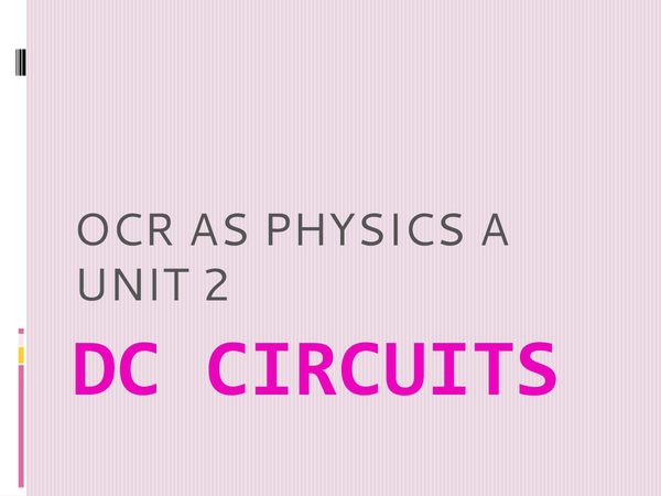 Preview of DC Circuits