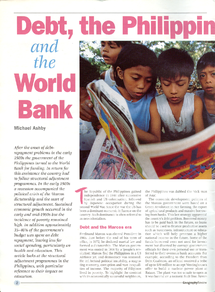 Preview of Debt in the Philippines and the World Bank