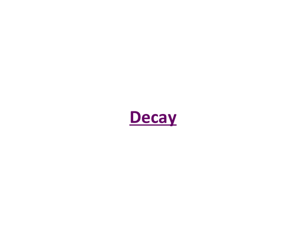 Preview of Decay