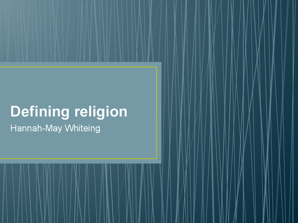 Preview of Defining Religion