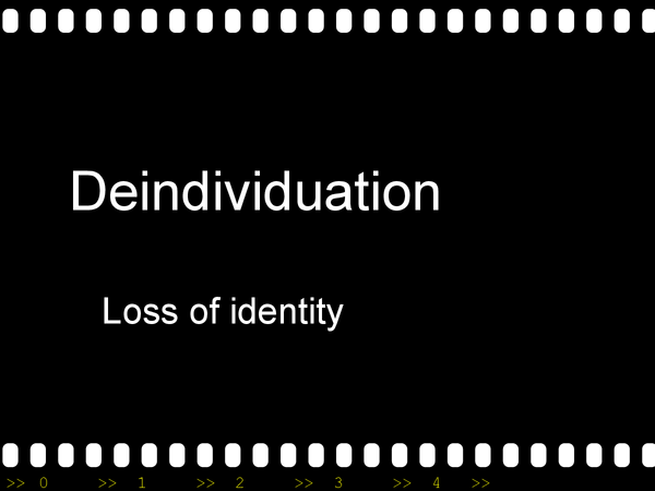 Preview of deindividuation