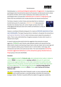 Preview of DeIndividuation Aggression A2 Psychology
