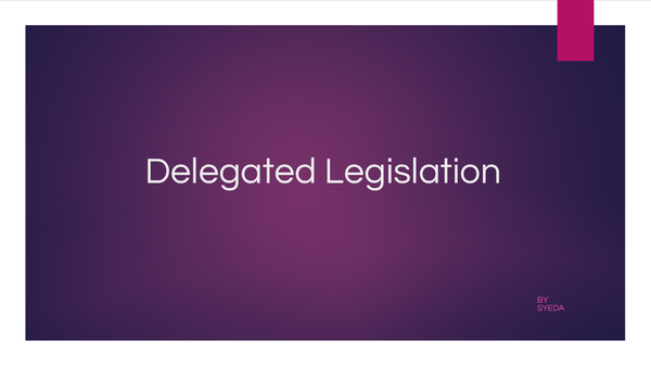 Preview of delegated legislation powerpoint