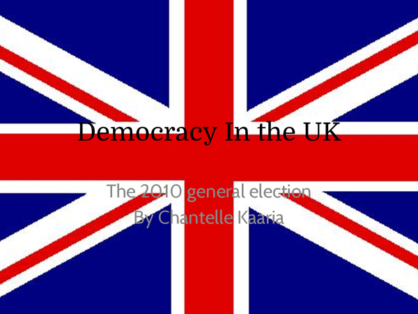 Preview of Democracy in the UK