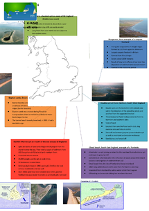 Preview of Depositional land form UK case study revision poster (COASTS, GEOGRAPHY)