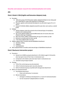 Preview of Describe and evaluate research into institutionalisation 12 mark essay plan