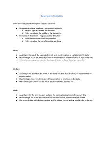 Preview of Descriptive Statistics - Methods