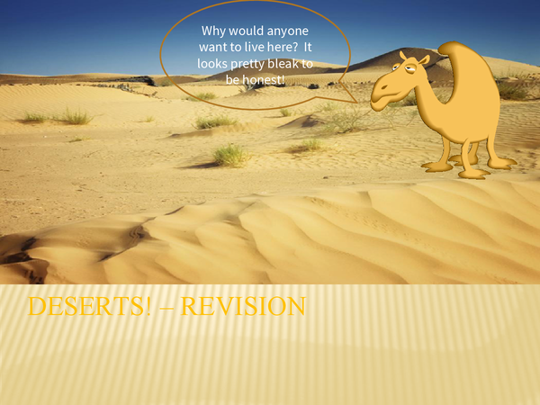 Preview of Desert Revision