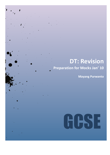 Preview of Design & Technology: Products Design Revision