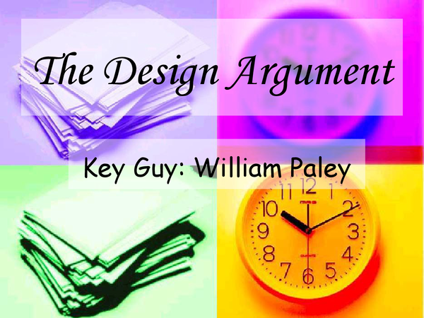 Preview of Design argument 2