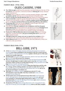 Preview of Designers & Fashion Eras