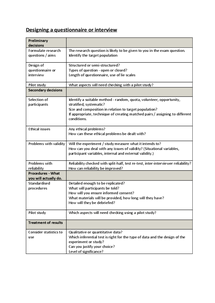 Preview of Designing a Questionnaire/Interview - Checklist