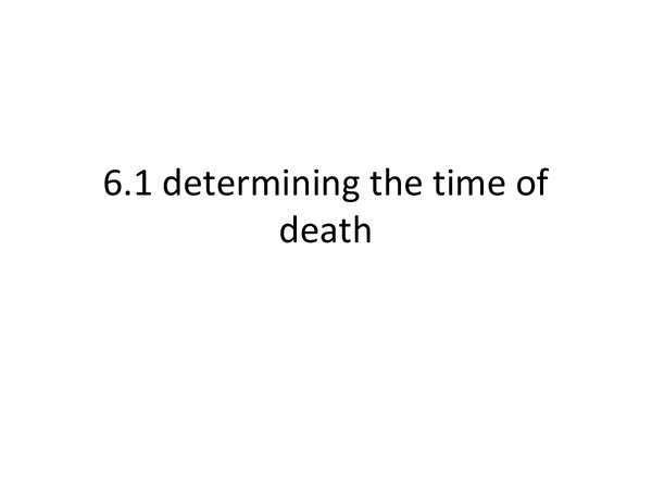Preview of Determining the time of death ppt