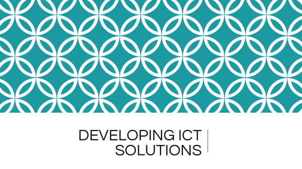 Preview of Developing ICT Solutions INFO3