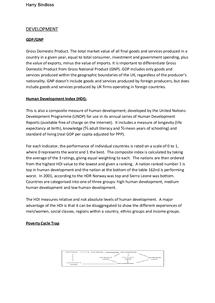 Preview of Development - Edexcel Unit 4