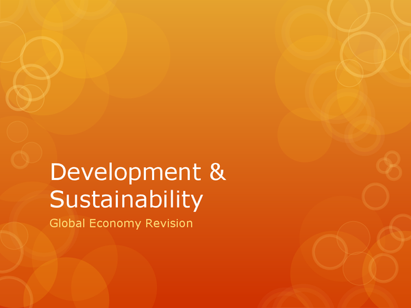 Preview of Development & Sustainability Revision Powerpoint