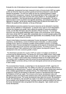 Preview of Development Essay A2 Economics