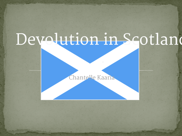 Preview of Devolution in Scotland
