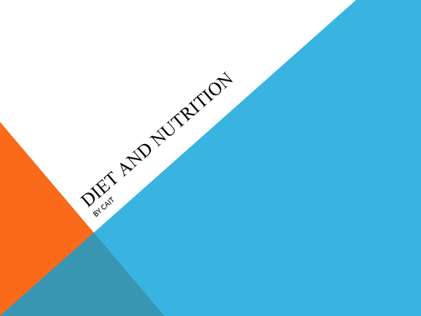 Preview of Diet and Nutrition