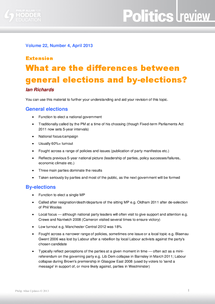 Preview of Differences between general elections and by-elections - AQA AS Government and Politics - GOVP1
