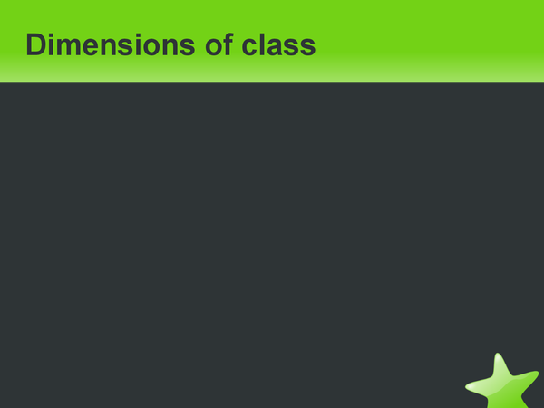 Preview of Dimensions of class