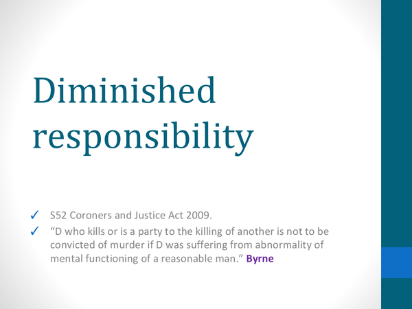 Preview of Diminished Responsibility