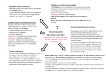 Preview of Diminished Responsibility -Mindmap
