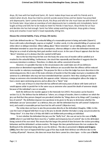 Preview of Discuss the Criminal Liability of Anya (Voluntary Manslaughter Essay)