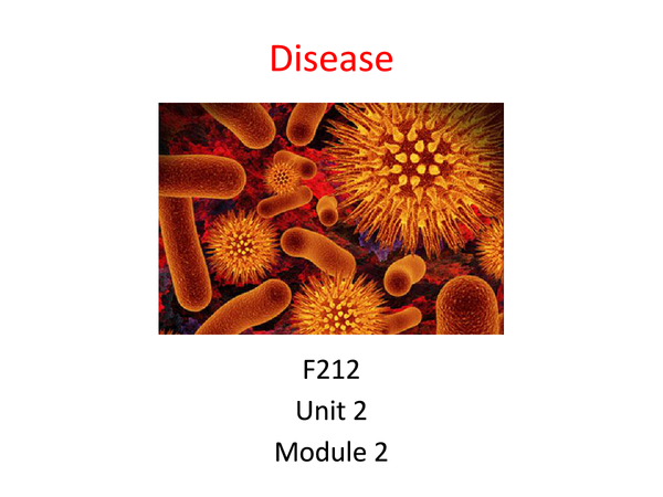 Preview of Disease Unit 2 Module 2 Revision