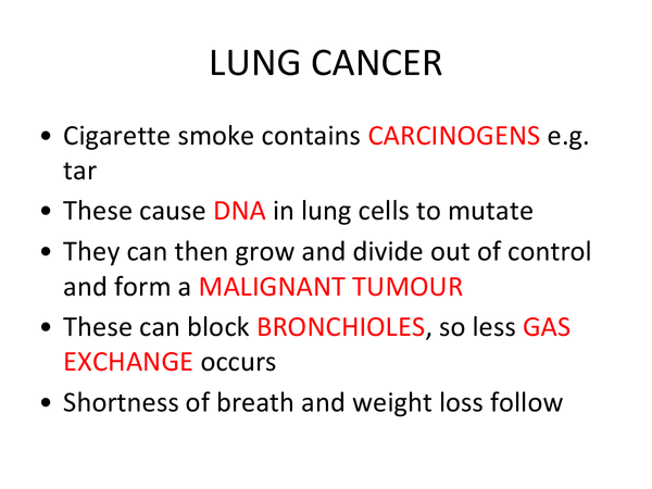 Preview of Diseases caused by smoking (Unit 2 Module 2 OCR)