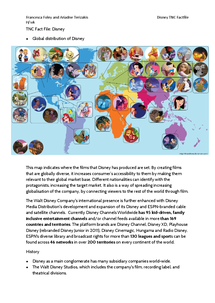 Preview of Disney Neocolonisation Cultural TNC Case Study