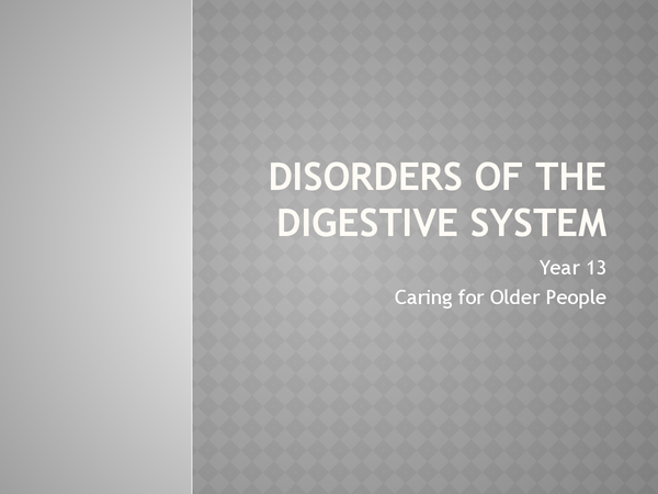 Preview of Disorders of the digestive system