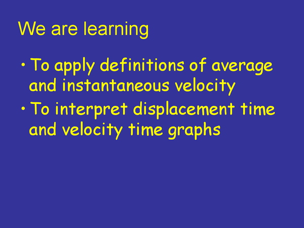 Preview of Displacement & Velocity Time Graphs