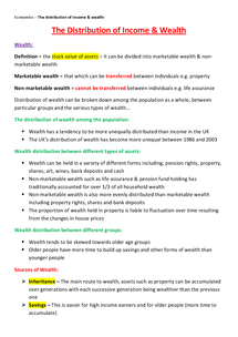 Preview of Distribution of Income & Wealth - Unit 3 (AQA)