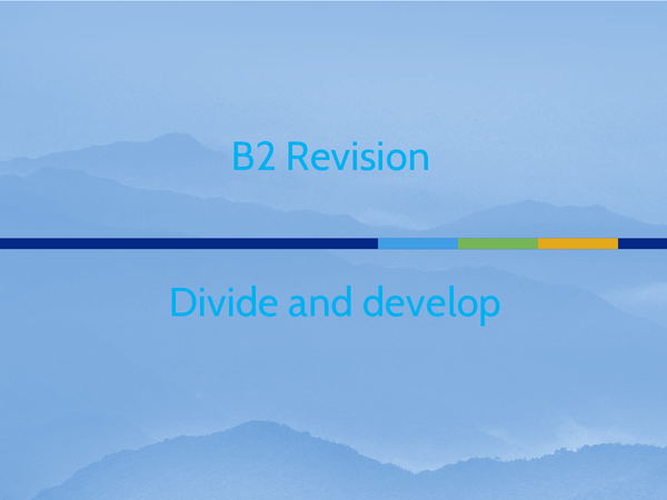 Preview of Divide and develop presentation
